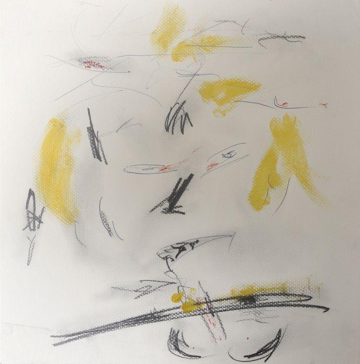 """Lot 8 - Böhme, OlafInformelle Komposition (""""Lass mich nicht allein""""), 2006, Mischtechnik Graphit/"""