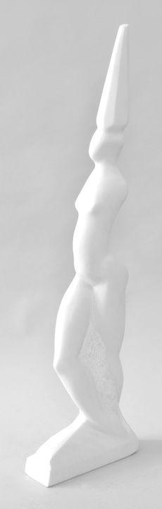 Lot 13 - Feindt-Eißner, Konstanze. Geb. 1966 Dresden, lebt und arbeitet ebd.Weiblicher Akt. Marmor, H. 113,