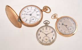 Three keyless wind pocket watches