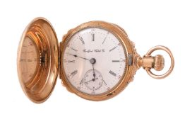 Rockford Watch Co., Gold plated full hunter keyless wind pocket watch