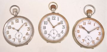 Railway Regulator,Base metal open face keyless wind Goliath pocket watch