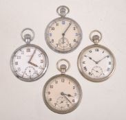 Damas,Base metal open face keyless wind military pocket watch