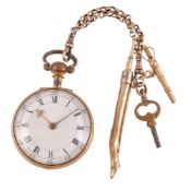 William Dutton, Gold coloured open face pocket watch