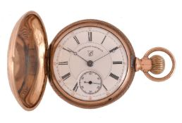 The Dueber Watch Co., Gold coloured full hunter keyless wind pocket watch