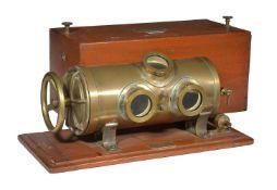 A rare portable aneroid altimeter calibration pressure chamber