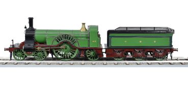An exhibition quality 5 inch gauge model of a Great Northern Railway Stiring Single 4-2-2 live steam