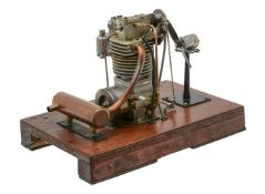 An exhibition standard ½ size working model of a single cylinder internal combustion motor cycle eng