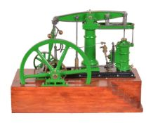 An exhibition standard model of a live steam 'Model Engineer' beam engine