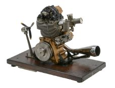 A gold medal winning ½ size working model of a Matchless G50 motor cycle engine