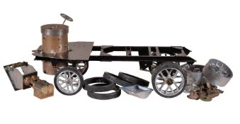 A part built 2 inch scale model of a Clayton under-type steam wagon