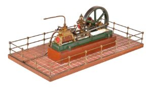 An exhibition quality model of a Stuart Turner 'Victoria' horizontal live steam mill engine