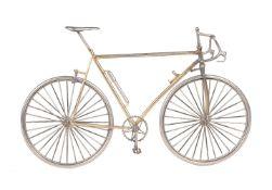 A model of a gentleman's drop-handle bar racing bicycle