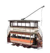 A model of a Glasgow tram car