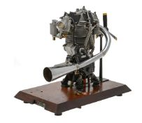 A gold medal winning ½ size working model of a 1938 350cc. Velocette racing motor cycle engine