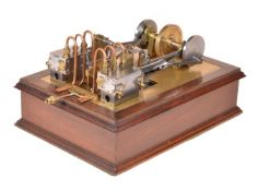 An exhibition standard model of a twin cylinder horizontal mill engine