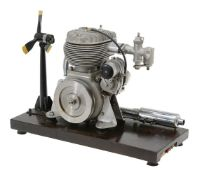 An exhibition standard ½ size working model of a 'BSA' motor cycle engine