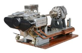 A medal winning model of a 'Spen100' horizontally opposed 'Flat four' petrol OHC engine