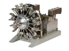 An exhibition bronze medal winning model of a 130cc nine cylinder radial aero engine