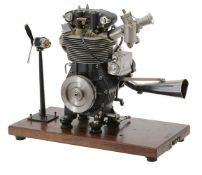 A gold medal winning ½ size working model of a 1956 'Manx Norton' short-stroke motor cycle engine