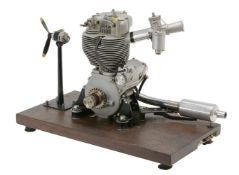 A gold medal winning ½ size working model of a BSA Goldstar DBD34 motor cycle engine