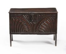 A Commonwealth panelled oak chest