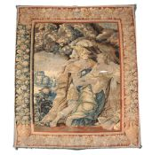 A Franco-Flemish woven wool figural tapestry