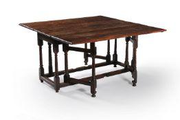 A William III oak gateleg dining table