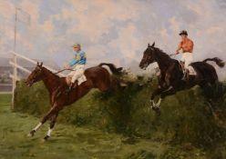 λ Charles Walter Simpson (British 1885-1971)Golden Miller winning the Grand National