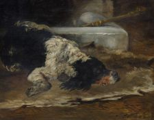 John Emms (British 1843-1912)Study of a Spaniel