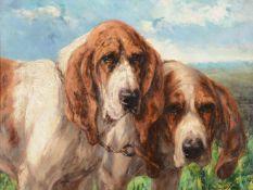 Edmond van der Meulen (Belgian 1841-1905)Bloodhounds