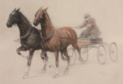 Cecil Charles Windsor Aldin (British 1870-1935)Horse and Trap