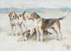 Arthur Wardle (British 1860-1940)Welsh Hounds, from the packs of Lieutenant Buckley and The Hon. H.