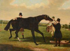 British School (19th century)Preparing the horse for racing
