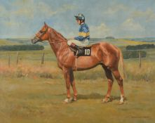 British School (20th century)The Racehorse Grundy with Pat Eddery up