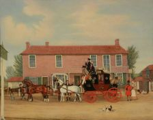 James Pollard (British 1792-1867)The Norwich Mail at the Coach and Horses, Ilford