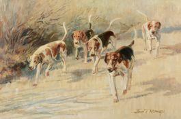 λ John Theodore Eardley Kenney (British 1911-1972)The Fernie Hounds on the Road