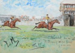 George Finch Mason (British 1850-1915)Flying Fox Wins !