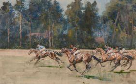 λ Lionel Dalhousie Robertson Edwards (British 1878-1966)Ascot: the start of the Hunt Cup