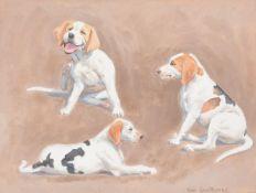 λ Neil Cawthorne (British b.1936)A study of three dogs