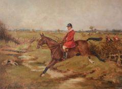 Henry Frederick Lucas Lucas (British 1848-1943)Frank Freeman, Trotting to Crick; Frank Freeman jumpi