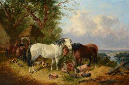 John Frederick Herring Junior (British 1820 - 1907)The Farmyard