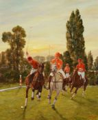 λ Brian Whiteside (British b.1934)Polo players