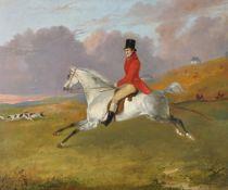 Circle of Richard Ansdell (British 1815-1885) Leading the hunt