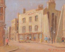 λ Hugh McKenzie (British 1909 - 2005)Street Scene, 1989
