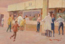 λ Hugh McKenzie (British 1909 - 2005)The Waiting Room, Lewisham Hospital