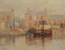 Alexander Williams (Irish 1846-1930)Lock on the canal