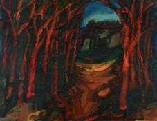 λ Alfred Cohen (British/American 1920-2001)Landscape with red trees