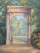λ Walter Steggles (British 1908-1997), Parc Monceau, Paris