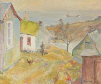 λ Ronald Ossory Dunlop (Irish 1894-1973)Landscape with cottage and figure