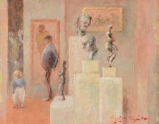 λ Hugh McKenzie (British 1909 - 2005)Interior of a museum